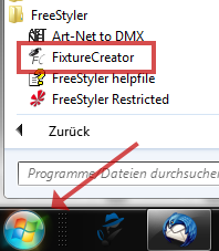 FreeStyler FixtureCreator Début